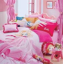 pink barbie kids bed sheets red fabric pillow pink bed cornice round pink wood chair pink bedroom kids bed set