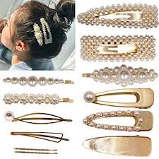 12PCS Pearls <b>Hair Clips</b> Elegant <b>Hair Accessories</b> for <b>Girls Women</b> ...