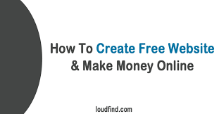 how to make a website for  amp make money online page   how to create website amp make money online by loudfind