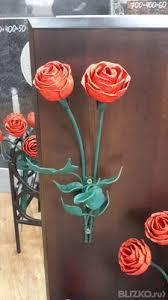 Металлические розы, 2 цветка от компании КАМЕНЬ-РИТУАЛ ...