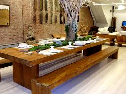 long wood dining table:  dining room amazing dining room design reclaimed wood dining table with benc stunning large