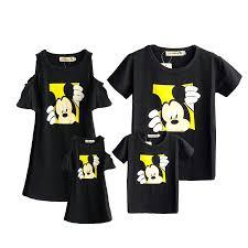 Family Matching Outfits <b>2019 Summer</b> Fashion <b>Mickey</b> T shirt Outfits ...