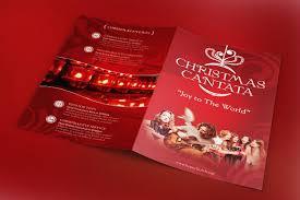 christmas cantata program template brochure templates on christmas cantata program template brochure templates on creative market