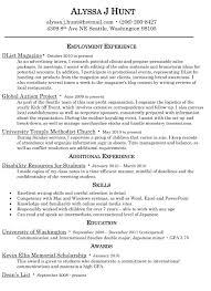 resume alyssa j hunt resume