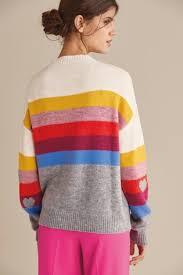 Купить Джемпер с разноцветными полосками и <b>сердечками</b> на ...