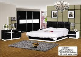 bedroom setswhite and black colorincluded bedwardrobebestanddresser bedroom furniture black and white