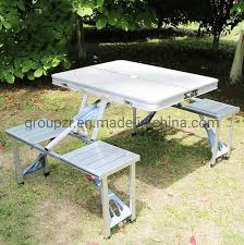 China <b>Portable Aluminum</b> Folding Metal Foldable out Camping ...