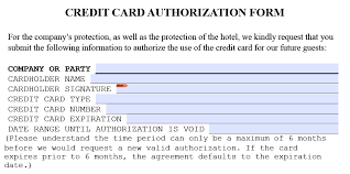 holiday inn credit card authorization form template pdf holiday inn credit card authorization form part 1