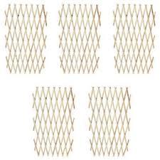 """Shop vidaXL Extendable Wood <b>Trellis Fence 5</b>' 11"""" x 2' 11"""" Set of 5 ..."""