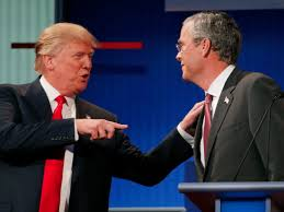 Image result for bush and trump debate