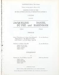 Daniel Barenboim: Recital with Cellist <b>Jacqueline</b> de <b>Pré</b> — Google ...