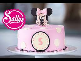 <b>Minnie Mouse</b> Torte / Motivtorte / Fondant Tutorial / mit Aufsteller ...