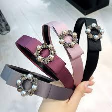 <b>Korea</b> Hand Made Ribbon Circle Crystal Retro <b>Hair Accessories</b> ...
