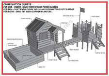 Cubby House Plans    CUBBY HOUSE  amp  FORT  amp  SAND PIT COMBO   Build With Your Kids   Building Plans