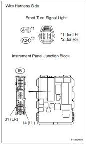 toyota rav4 service manual turn signal light circuit data list toyota rav4 check wire harness instrument panel junction block front turn signal light