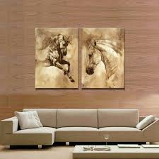 2 The <b>Panel</b> Wall Art Of <b>Brown Horse</b> Painting Pictures Print On ...
