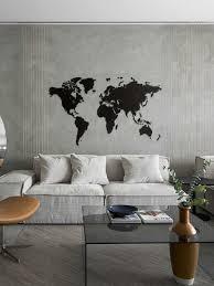<b>Деревянная карта мира</b> Wall Decoration 180x108 cm MiMi ...