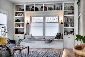 urban rustic living room living room rustic interior designs with built in bookshelf grey sofa built in living room furniture
