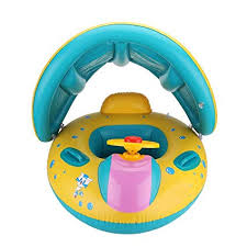COSORO 6-18 Months Inflatable Baby Pool <b>Float Swimming Ring</b> ...