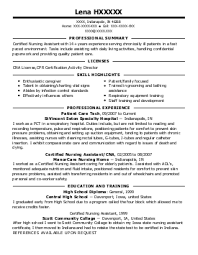 stna resume example  wickliffe country place     cleveland  ohiolena h