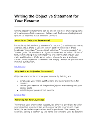 how to write a good objective for your resume resume builder how to write a good objective for your resume resume objective examples and writing tips the