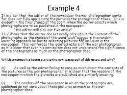 war photographer essay questions   essay war photographer isolation cel critical essay feedback ppt
