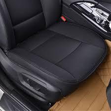 <b>Universal</b> 53x50cm <b>Black PU Leather</b> Front Car Seat Cover Chair ...