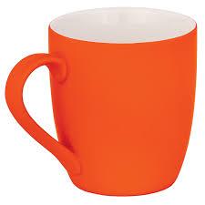 Купить <b>Кружка</b> с покрытием soft touch, оранжевая 6861-10 с ...