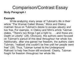 writing portfolio mr butner writing portfolio due date comparison contrast essay body paragraph i example while analyzing many areas of tubman s life