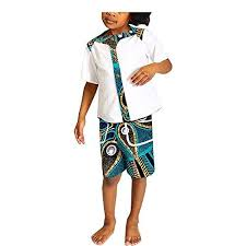 <b>African Children Suits</b> 2 Pieces Shirt +Shorts Traditional... https ...