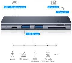 Купить темно-серый <b>USB</b>-<b>концентратор Baseus Harmonica</b> 5in1 в ...
