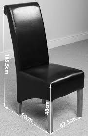 Black Leather Dining Room Chairs Montana Scroll Back Leather Dining Chairs Dining Room Furniture Ebay