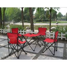 4 chairs + 1 table <b>Outdoor</b> Ultralight portable <b>folding tables</b> and ...