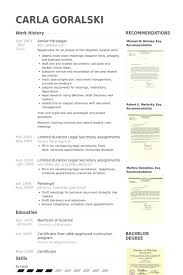 paralegal resume samples   visualcv resume samples databasesenior paralegal resume samples