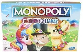 Monopoly Unicorns Vs. Llamas Board Game For Ages ... - Amazon.com