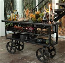 rustic kitchen cart island