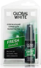 Global White <b>Освежающий спрей для</b> полости рта, 15 мл ...