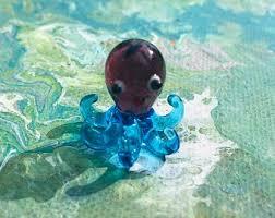 1pc <b>Glass</b> Miniature Elephant Lamp Work <b>Glass</b> Figurine Handmade ...