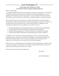 best physical therapist cover letter examples livecareer gallery of pre written cover letter
