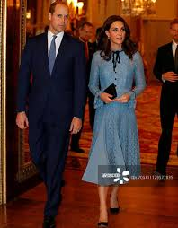 High Quality <b>Blue Lace</b> Dress Elegant <b>2018 Spring</b> Princess Kate ...