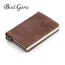 BISI GORO 2019 <b>Unisex Genuine Leather</b> Card Holder <b>Vintage</b> ...