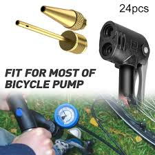 <b>24Pcs Bike Tire</b> Air <b>Valve</b> Adapter Pump Inflator Converter <b>Set</b> for ...