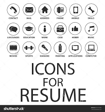 icons set your resume cv job stock vector shutterstock icons set for your resume cv job