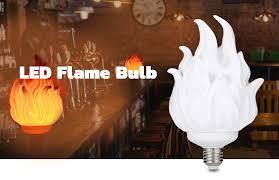 3D Printing <b>LED Flame Effect Light</b> Bulb Fire Flickering Flickering ...