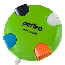 <b>USB</b>-хаб <b>Perfeo USB</b>-HUB PF-VI-H020 4 PORT зеленый: купить за ...