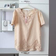 Бежевая воздушная <b>блуза с</b> кружевом от <b>lily</b> lin на IZI.ua (2403373)