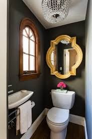 bold color in the powder room bathroomglamorous creative small home office