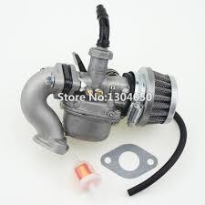PZ19 19mm Hand Choke <b>Carburetor Carb Intake</b> Pipe <b>Air</b> Filter Fuel ...