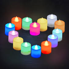 <b>10pcs</b> Colorful <b>Mini LED</b> Tea Lights Candle <b>With</b> Timer Glow Electric ...