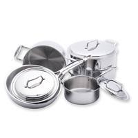 USA PAN® - USA PAN <b>8 Piece</b> 5-ply <b>Stainless Steel</b> Cookware Set-